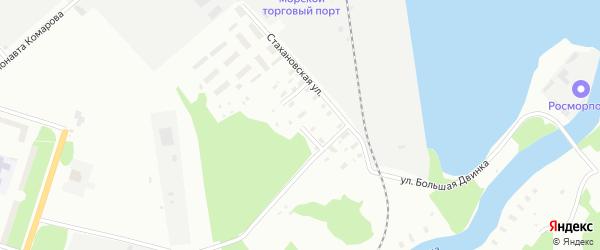 Улица Портовиков на карте Архангельска с номерами домов