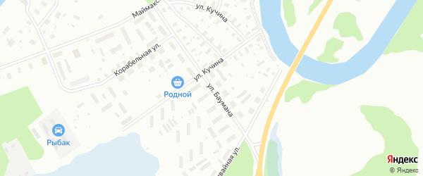 Улица Баумана на карте Архангельска с номерами домов