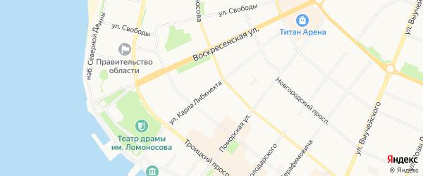 ГСК Электрик на карте улицы Карлы Либкнехта с номерами домов