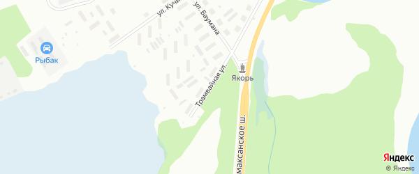 Трамвайная улица на карте Архангельска с номерами домов