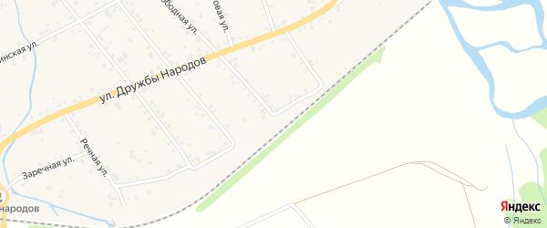 Железнодорожная улица на карте аула Кошехабль с номерами домов