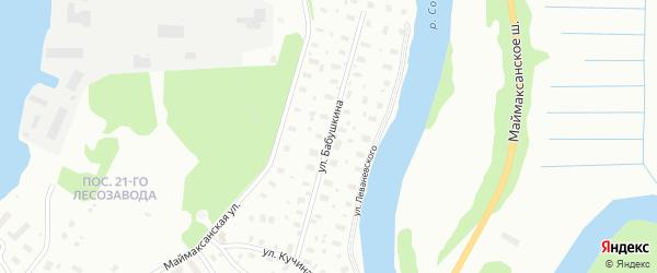 Улица Бабушкина на карте Архангельска с номерами домов