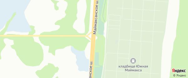 Маймаксанское шоссе на карте Архангельска с номерами домов