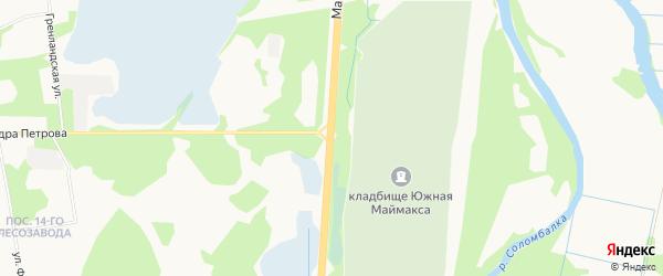 ГСК Машиностроитель на карте Маймаксанского шоссе с номерами домов
