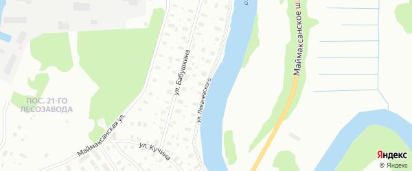 Улица Леваневского на карте Архангельска с номерами домов