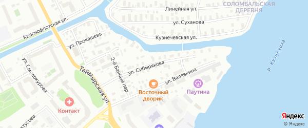 Улица Сибирякова на карте Архангельска с номерами домов