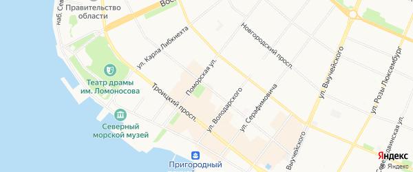 Жилстрой ГСК на карте проспекта Чумбарова-Лучинского с номерами домов