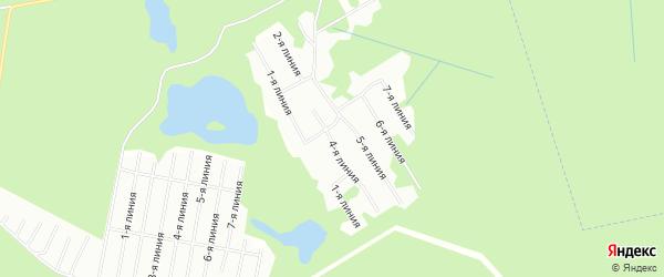 Карта Озерного садового некоммерческого товарищества в Архангельской области с улицами и номерами домов