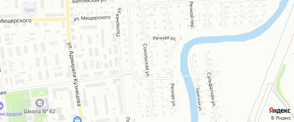 Сокольская улица на карте Архангельска с номерами домов