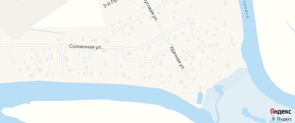 Удачный 1-й переулок на карте деревни Верхнее Ладино с номерами домов