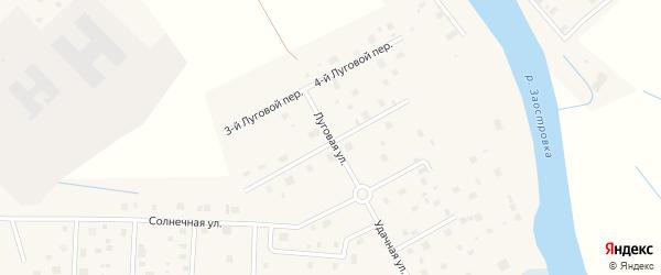 Луговая улица на карте деревни Верхнее Ладино с номерами домов