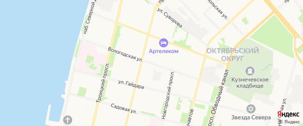 ГСК Лазурит на карте Вологодской улицы с номерами домов