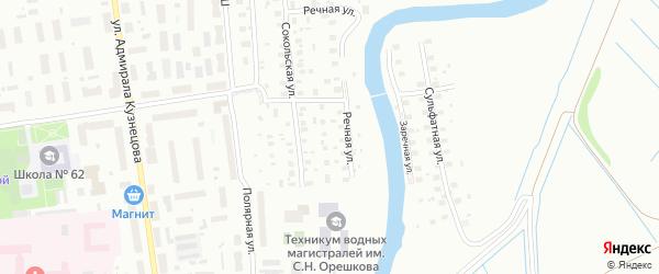 Сокольский 2-й переулок на карте Архангельска с номерами домов