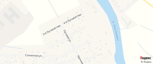 Луговой 2-й переулок на карте деревни Верхнее Ладино с номерами домов