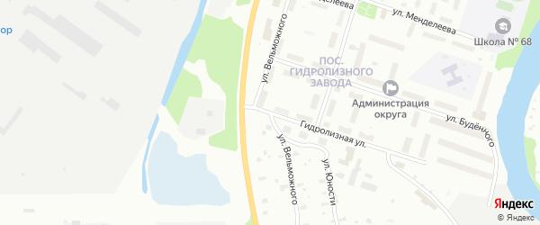 Улица Вельможного на карте Архангельска с номерами домов