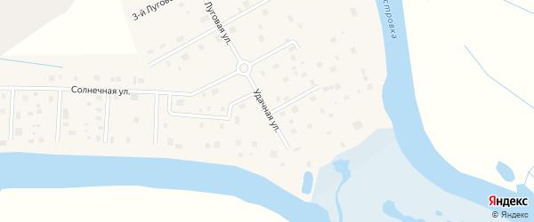 Удачная улица на карте деревни Верхнее Ладино с номерами домов