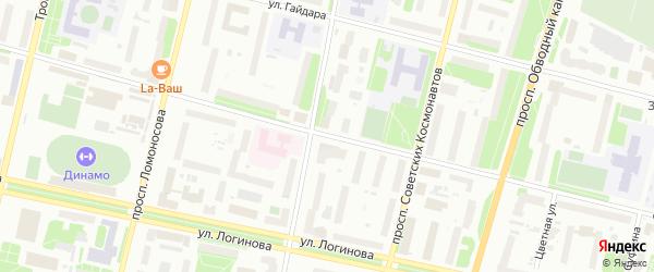 Садовая улица на карте Архангельска с номерами домов