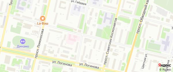 Улица Садовая (Маймакса) на карте Архангельска с номерами домов