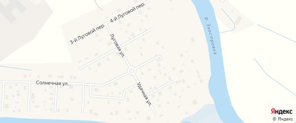 Речная улица на карте деревни Верхнее Ладино с номерами домов