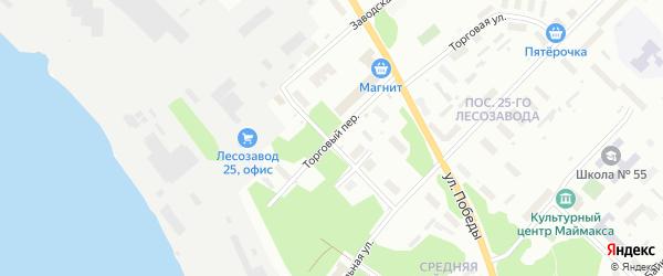 Торговый переулок на карте Архангельска с номерами домов