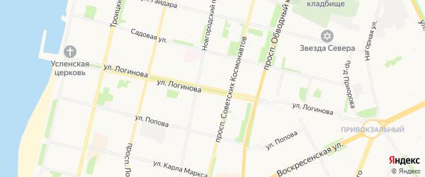 ГСК Чебурашка на карте улицы Логинова с номерами домов