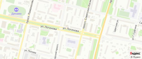 Улица Логинова на карте Архангельска с номерами домов