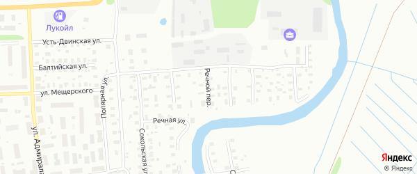 Речной переулок на карте Архангельска с номерами домов