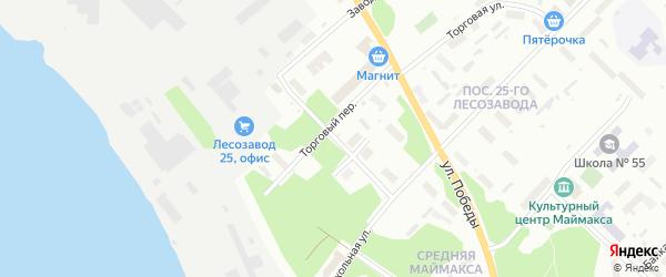 Театральная улица на карте Архангельска с номерами домов