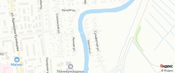 Заречная улица на карте Архангельска с номерами домов