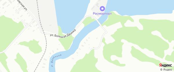 Улица Большая Двинка на карте Архангельска с номерами домов