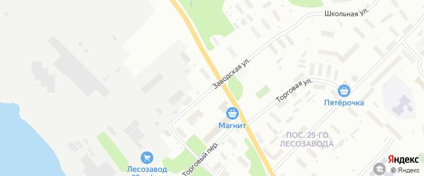 Улица Заводская(Исакогорка) на карте Архангельска с номерами домов