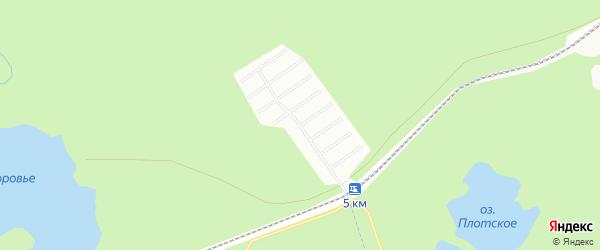 Карта садового некоммерческого товарищества Полянки в Архангельской области с улицами и номерами домов