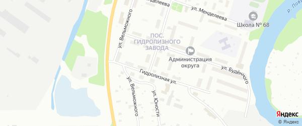 Улица Юности на карте Архангельска с номерами домов
