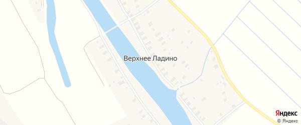 Луговой 1-й переулок на карте деревни Верхнее Ладино с номерами домов