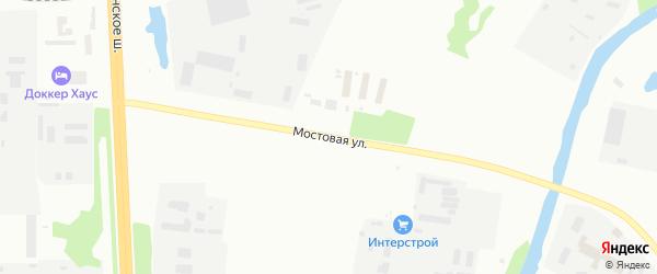 Мостовая улица на карте Архангельска с номерами домов