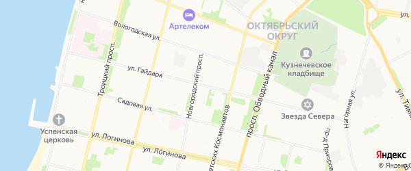 ГСК Бриг на карте улицы Гайдара с номерами домов