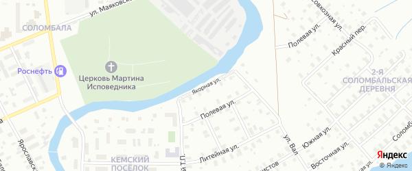 Якорная улица на карте Архангельска с номерами домов