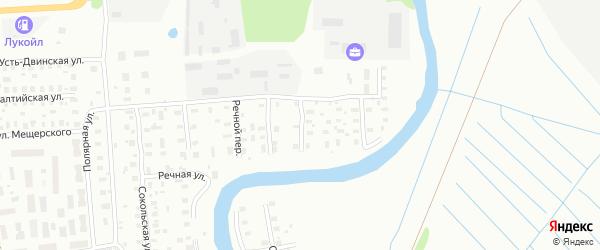 2-й Речной переулок на карте Архангельска с номерами домов
