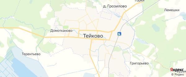 Карта Тейково с районами, улицами и номерами домов