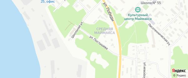 Улица Постышева на карте Архангельска с номерами домов