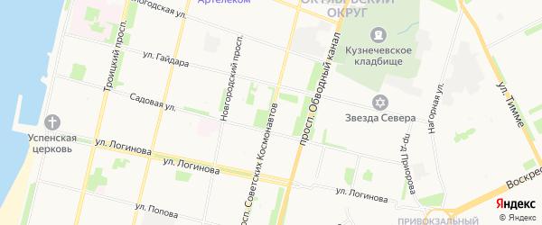 ГСК Апрель на карте проспекта Советских Космонавтов с номерами домов