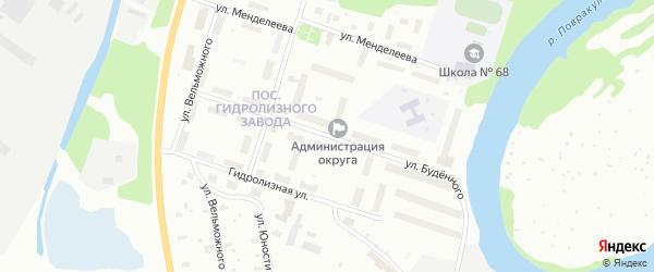 Улица Буденного на карте Архангельска с номерами домов
