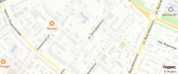 Улица Володарского на карте Архангельска с номерами домов