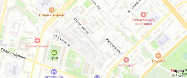 Карельская улица на карте Архангельска с номерами домов