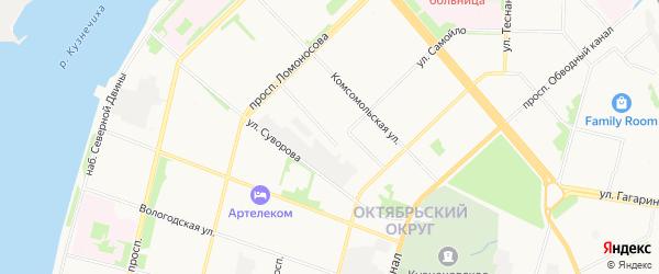 ГСК Двина-14 на карте Карельской улицы с номерами домов