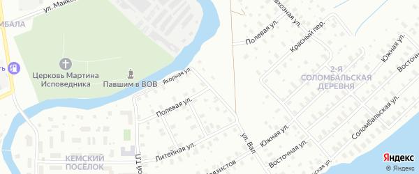 Полевая улица на карте Архангельска с номерами домов