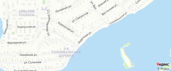 Лодочная улица на карте Архангельска с номерами домов