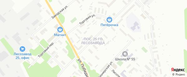 Улица Школьная (Исакогорка) на карте Архангельска с номерами домов