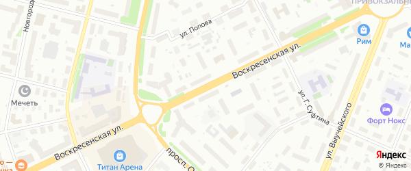Воскресенская улица на карте Архангельска с номерами домов
