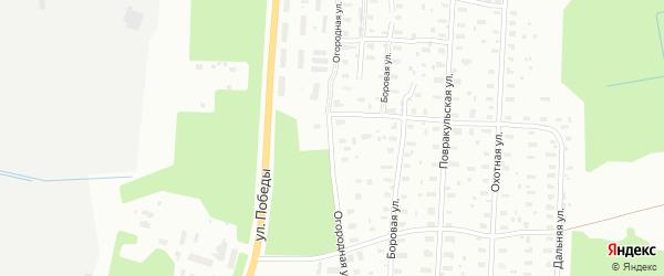 Огородная улица на карте Архангельска с номерами домов